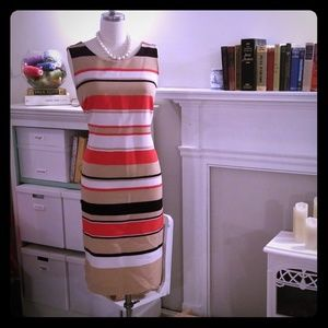 Danny and Nicole striped black and red shift dress